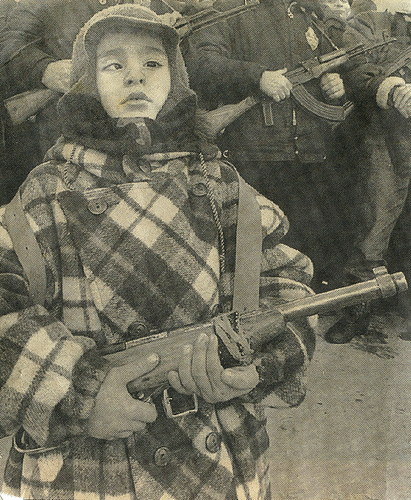 Child soldier in Chechnya