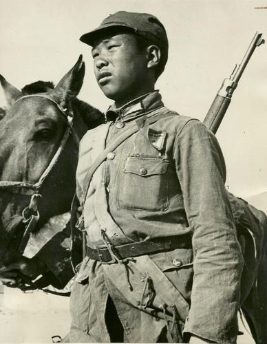A child soldier in China during WWII