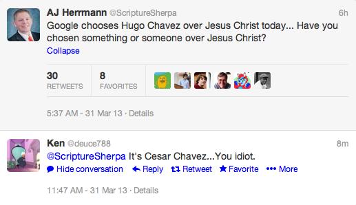 It's Cesar Chevez, you idiots!