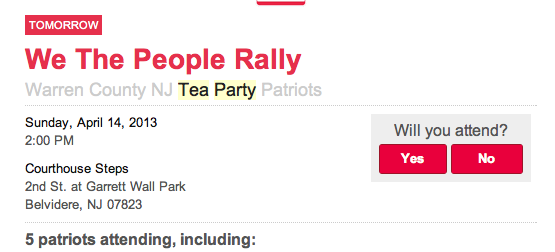 Tea Party Patriot Rally